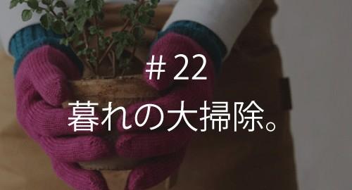 暮れの大掃除。 #22
